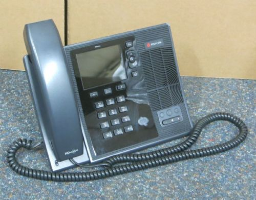 Polycom CX600 IP VoIP Business Desktop Phone With Stand & Handset 2201-15942-001